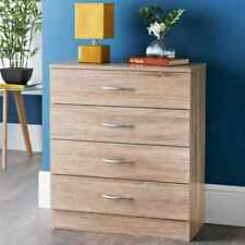 Lokken 4 Drawer Chest Home Furniture Solid Pine Wood Waxed Rustic Oak Finish New