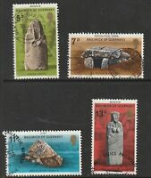 GUERNSEY 1977 PREHISTORIC MONUMENTS SET OF ALL 4 COMMEMORATIVE STAMPS USED