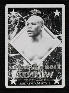 2017 Leaf Fight of the Century Winner Printing Plate Black 1/1 Floyd Mayweather
