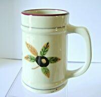 "Hartstone Pottery Ohio State Stein Mug OSU Buckeye Leaf Nut University USA 6"""