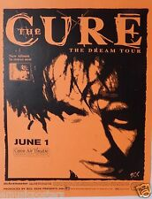 """The Cure """"The Dream Tour"""" 2000 San Diego Concert Poster - Robert Smith Head Shot"""