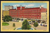 HOTEL WOODRUFF WATERTOWN NY POSTCARD LINEN PUBLIC SQUARE