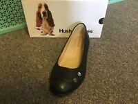 New Womens Hush Puppies Black Lara Bria Dize 8 Wide Dress Shoes