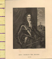 C1860 Vittoriano Stampa ~ King Charles II The Second
