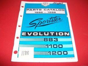 FACTORY ISSUED 1986-88 HARLEY DAVIDSON EVOLUTION 883 1100 1200 PARTS CATALOG