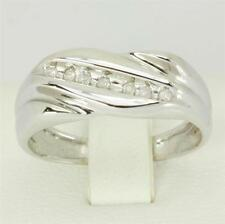 7 Diamond 9ct 9K Solid White Gold Gents Mens Ring - 30 Day Refund FREE shipping