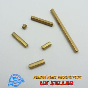Female-Female M3 Spacer Thread Pillar Hexagonal Brass PCB Studs Standoff Hex