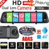 Android 8.1 HD Dash Cam Car Rearview Mirror DVR Camera 4G WiFi BT GPS ADAS w/Cam