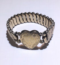 Vintage gold filled Sweetheart Heart Expansion Bracelet
