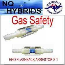 HYDROGEN GENERATOR DRY CELL HHO BROWN GAS BACK FIRE ARRESTOR FLASH SUPRESSOR