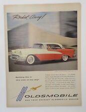 Original Print Ad 1955 OLDSMOBILE Rocket Away! 88 Nothing Like It