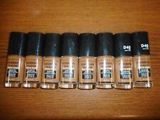Lot Of 8 Covergirl Trublend Matte Made Foundation D40 Deep Bronze 1.0oz Each