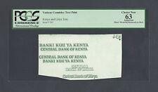 Kenya Vignette Die Proof Test Printing Uncirculated