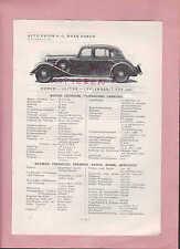 Zwickau, tipi di prospetto 1934, Auto Union fabbrica Horch tipo 830, tipo 710