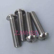 4pcs M5 Titanium Ti Screw Bolt Allen Hex Socket Button Head Aerospace Grade