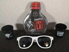 NEW CAPTAIN MORGAN Cannon BLAST Ladies S T-Shirt sun glasses Rum 2 Shot Glasses