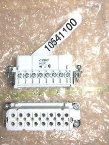 Lot of 2) Lapp 10541100 Rectangular Connector Plug Insert; Screw; 14-20AWG; 16A