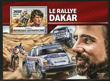 CENTRAL AFRICA 2016 DAKAR RALLY CYRIL NEVEU SOUVENIR SHEET  MINT NH