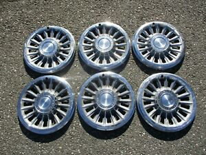Genuine 1965 Pontiac Catalina Bonneville 14 inch hubcaps wheel covers beater lot