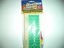 Games On The Go Wood Football Peg Game With Pegs Dice And Game Board