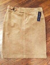 American Living Corduroy Skirt Brown Women's  Size 6 Brand New