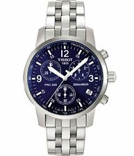 Tissot Men's T17158642 TSport PRC200 Chronograph Stainless Steel Blue Dial Watch