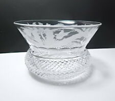 Edinburgh Crystal THISTLE Etched Finger Bowl(s)  Rare!
