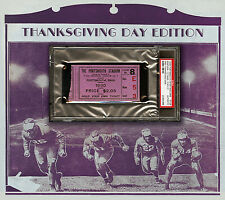 1930 Portsmouth Spartans/Detroit Lions Ticket -- First Thanksgiving Game - PSA