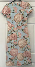 Warehouse 10 Wedding Outfit Dress Sky Blue And Pink Bumble Bees Lined