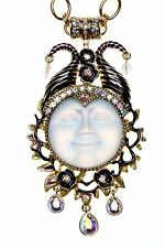 KIRKS FOLLY GRANDE MALEFICENT SEAVIEW MOON MAGNETIC ENHANCER NECKLACE crystal ab