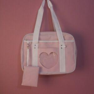 Lady Canvas Handbag Japanese School Uniform Shoulder Bag JK Cosplay Student Chic