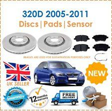 For BMW 320D E90 M Sport 05-11 2 Front 300MM Brake Discs & Brake Pads + Sensor