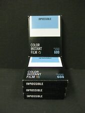 Impossible 600 Color Film for polaroid 600 Cameras 4 packs of film new version