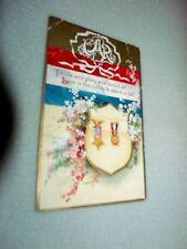 C.1910 GAR Civil War Veterans Ribbons Medals Flowers Shield Banner Postcard