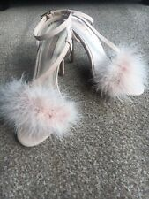 Topshop Pink Fluffy Heels Size 4