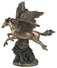 Pegasus Gallopng through the cliff home decor statue collectible sculpture