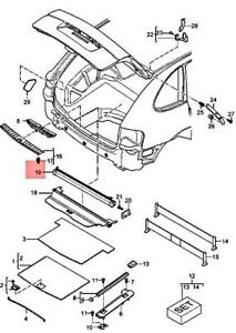 Genuine PORSCHE Cayenne Net Partition Luggage Compartment Black 955551691033W4