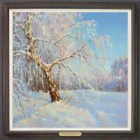 "Hand painted Original Oil Painting art landscape snow tree on canvas 30""x30"""