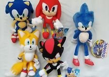 "Sonic Stuffed Toy Figure Plush Set, Sonic Shadow Tails Knuckles 8 - 12"" New"