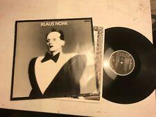 Klaus Nomi lp S/T 1st orig rca pl70027 vinyl rare '81 art new wave germany bowie