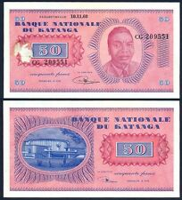 KATANGA 50 Francs 10.11. 1960 AU P 7