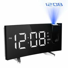 Mpow Alarm Clock Projection FM Radio 5-inch Dimmable LED Projector Home Bedroom