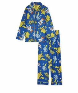 Pokemon Boys Exclusive 2-Piece Pajama Coat Collar Shirt Set Sizes 6/7 & 10/12