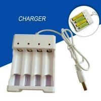 USB Four-slot Battery Charger AA/AAA Rechargeable Batteries Sale X6D4