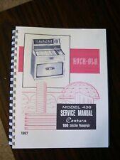 Rock-ola 436 Jukebox manual Centura 100+