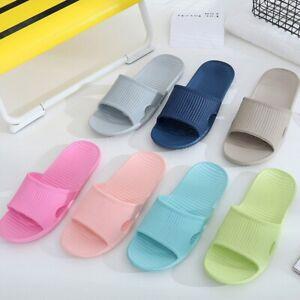 House Slippers Bathroom Sandals Summer Non Slip Shower Slides Home Shoes 36-45