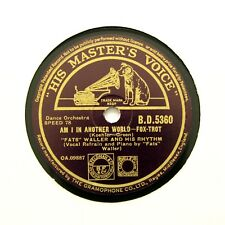 "FATS WALLER & HIS RHYTHM ""Am I In Another World"" (E+) HMV BD-5360 [78 RPM]"