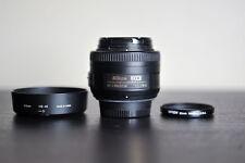 Nikon AF-S 35mm 1.8G Prime DX Lens w/ Tiffen UV Filter!  - US Model!