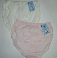 2 Jockey French Hi Cut Panty Set Comfies Cotton Classic Fit 8 XL Pink White NWT