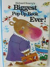 """Richard Scarry's Biggest Pop-Up Book Ever Board Book Size 20"""" x 14"""""""